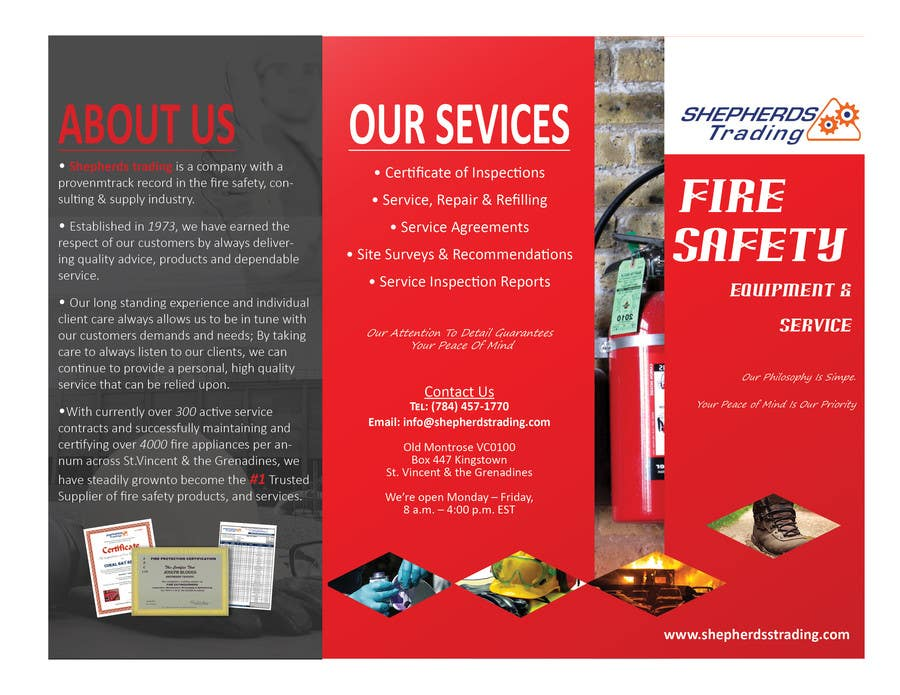 Entry #2 by tommylauheart for Design a FIRE SAFETY Brochure ...