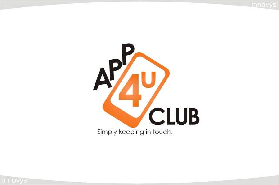 Kilpailutyö #444 kilpailussa Logo Design for App 4 u Club