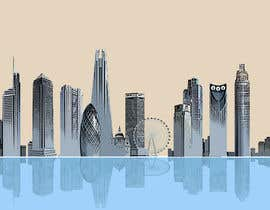 nº 37 pour Create a composite landing page image of the London financial skyline par redmapleleaves