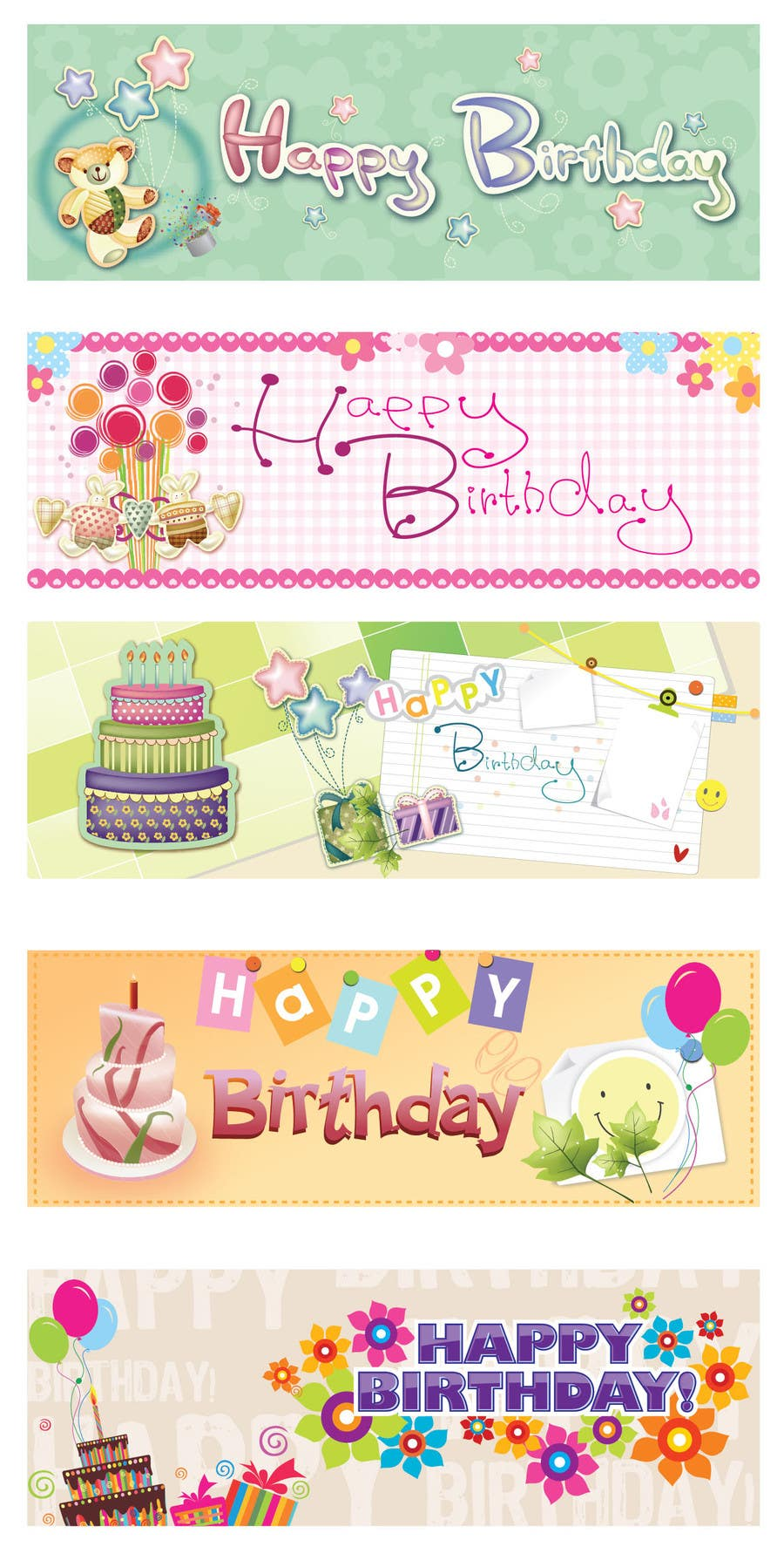#2 for i need 5 designs for birthday banners by sedayu