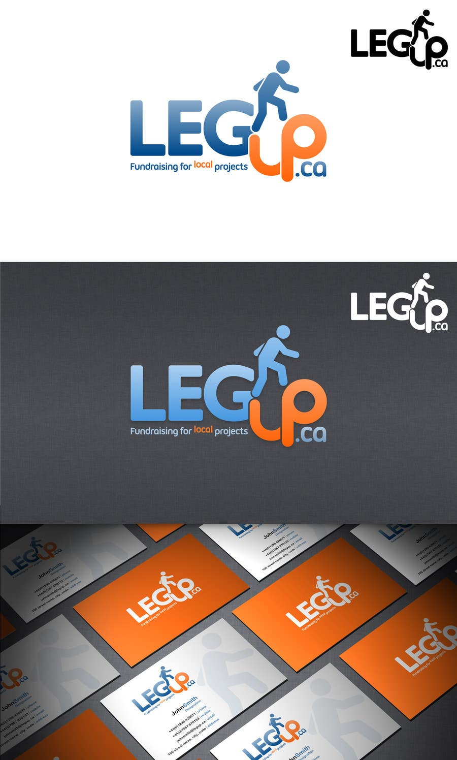 "#122 for Design a Logo for Crowdfunding Site ""LegUp.ca"" by HallidayBooks"