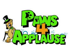 #87 para Logo Design for Paws 4 Applause Dog Grooming por Galhardo