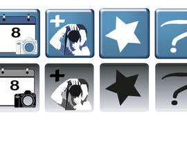 #7 para Design four Icons for a Photography Website por Hannahrachael