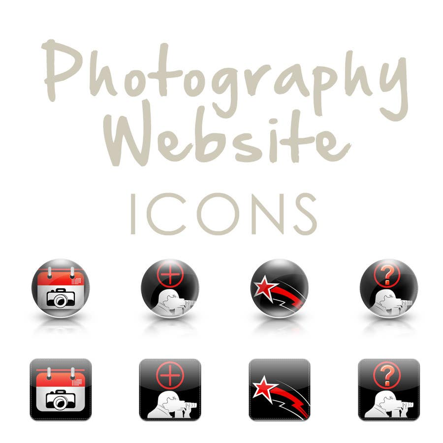 Contest Entry #15 for Design four Icons for a Photography Website