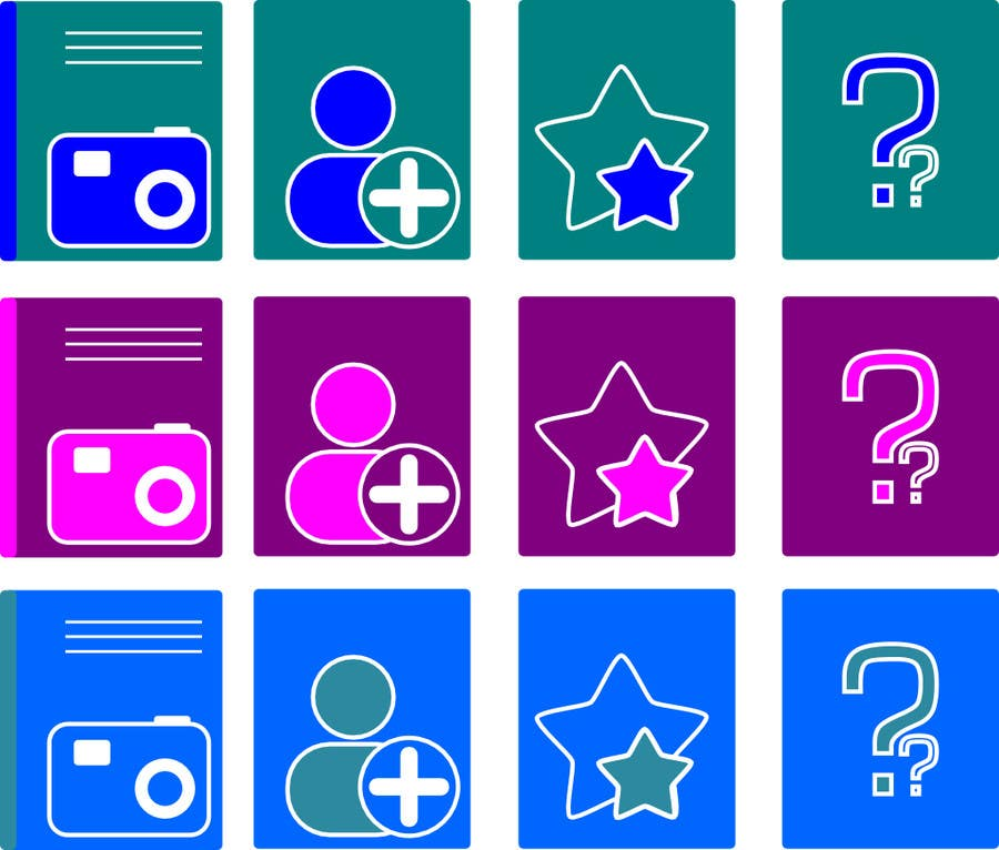 #1 for Design four Icons for a Photography Website by oneb