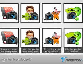 #21 untuk Design four Icons for a Photography Website oleh liyonaladavid