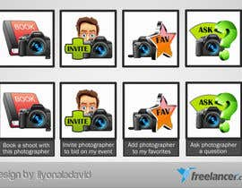 #22 untuk Design four Icons for a Photography Website oleh liyonaladavid