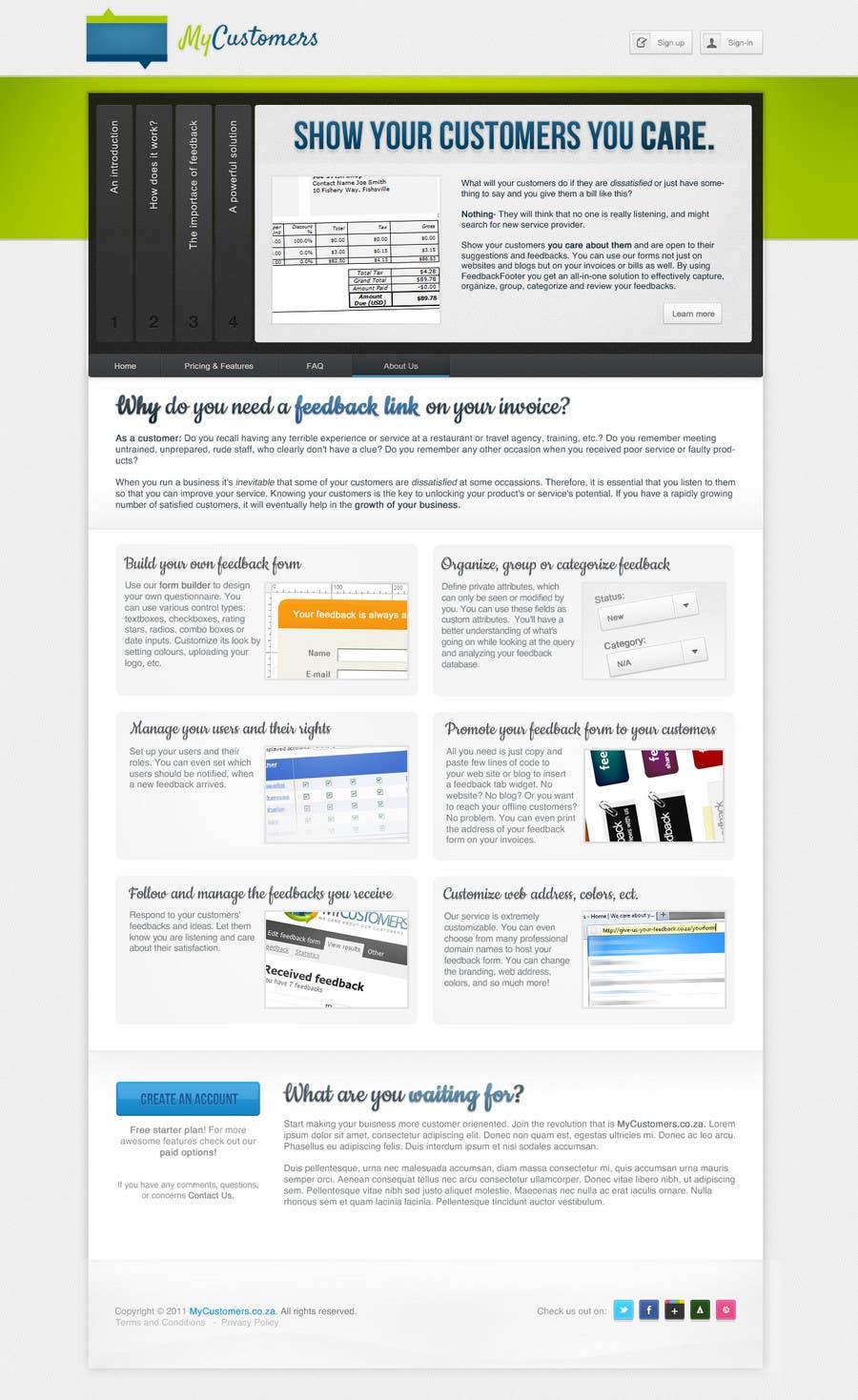 Конкурсная заявка №51 для Website Design for MyCustomers.co.za