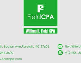 nº 58 pour Business Card Logo Design for FIELD CPA par danapopa88