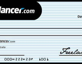 nº 16 pour Design a novelty check for Freelancer.com par zetabyte