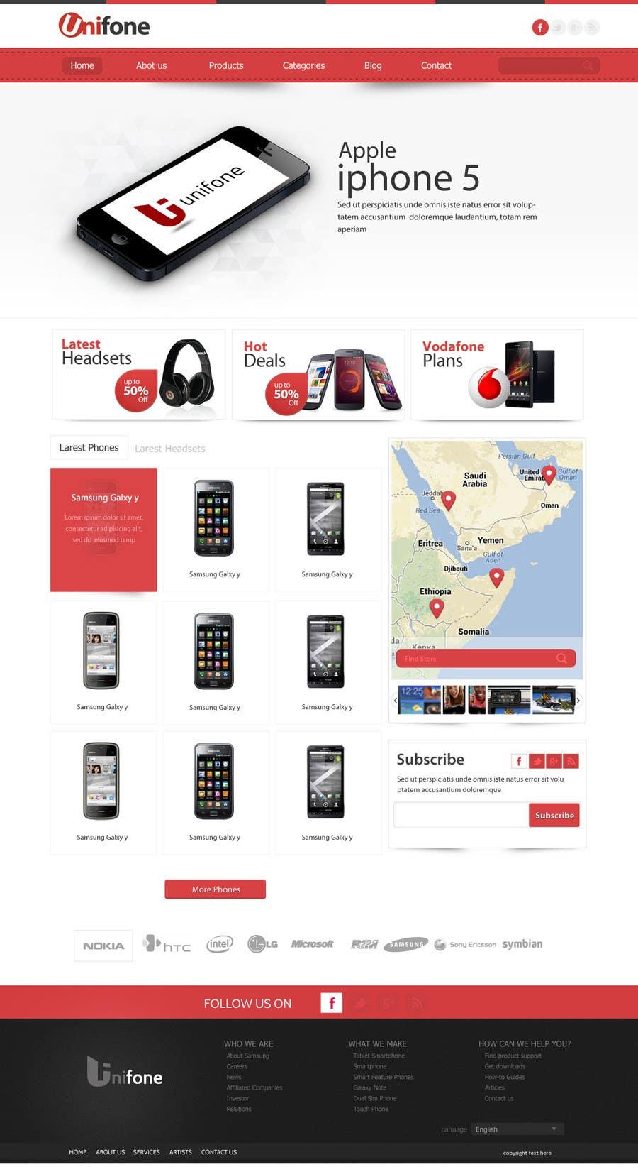 Design a strongly branded Mobile Phone Content Website için 88 numaralı Yarışma Girdisi