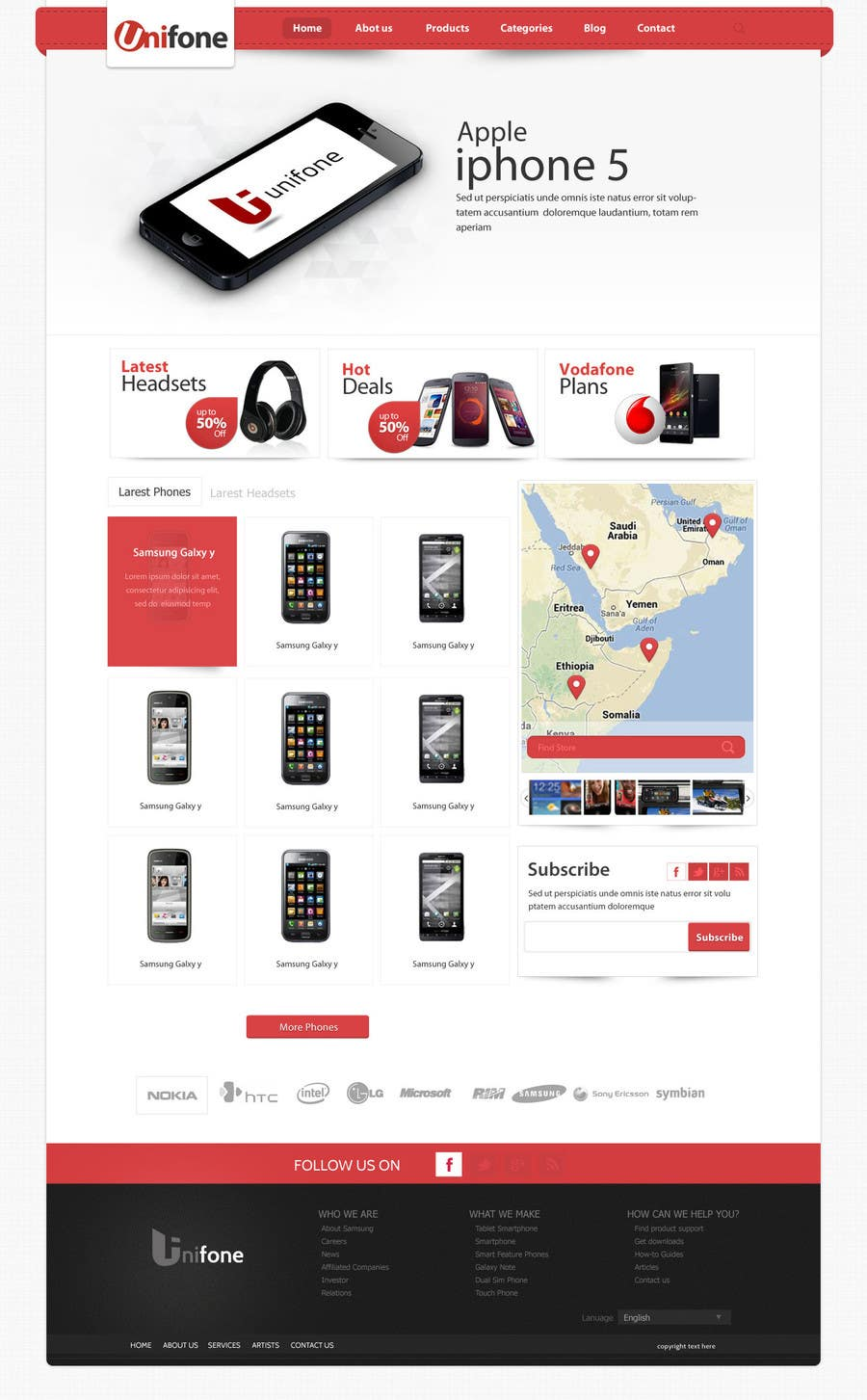 #104 for Design a strongly branded Mobile Phone Content Website by SadunKodagoda