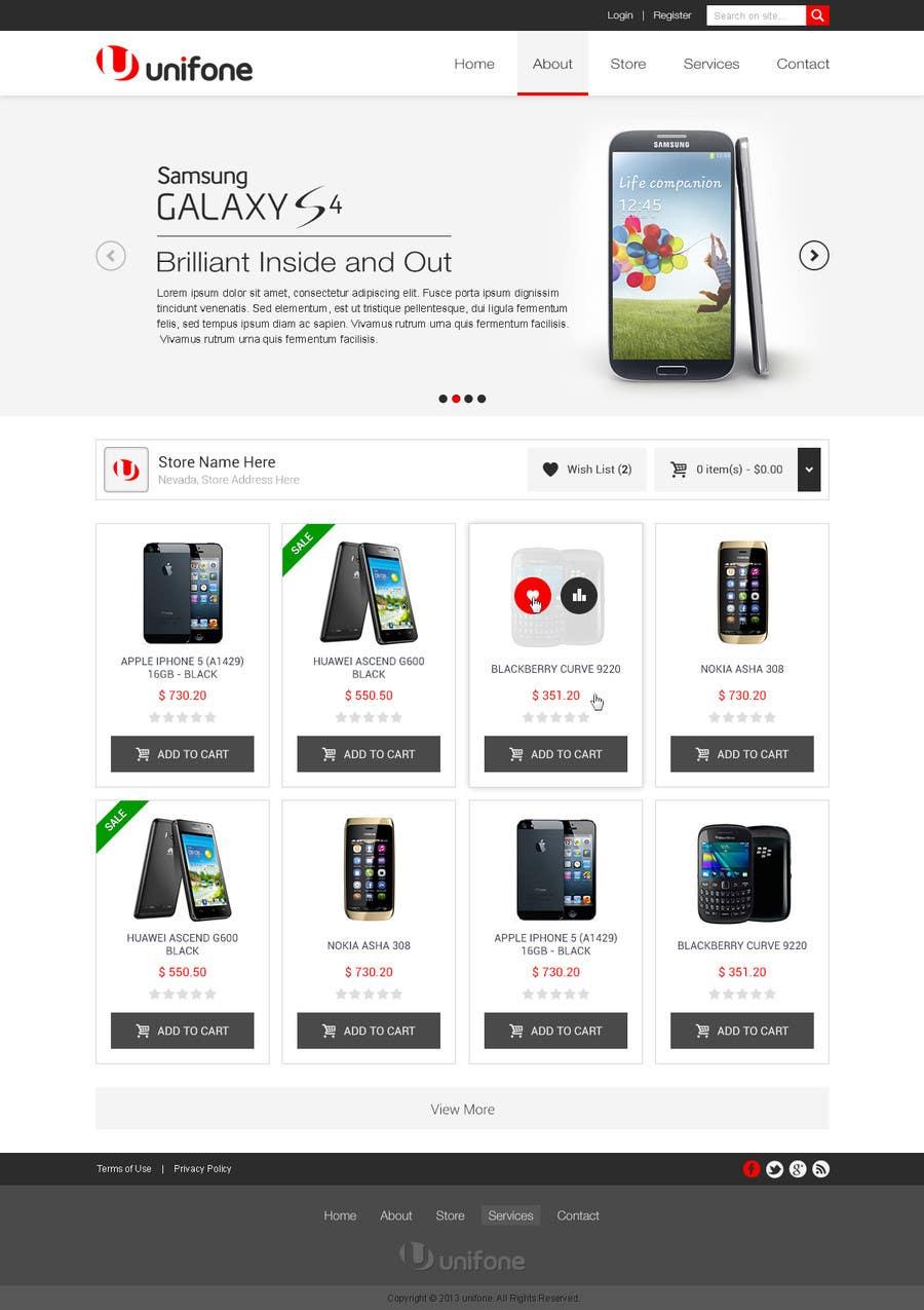Design a strongly branded Mobile Phone Content Website için 63 numaralı Yarışma Girdisi