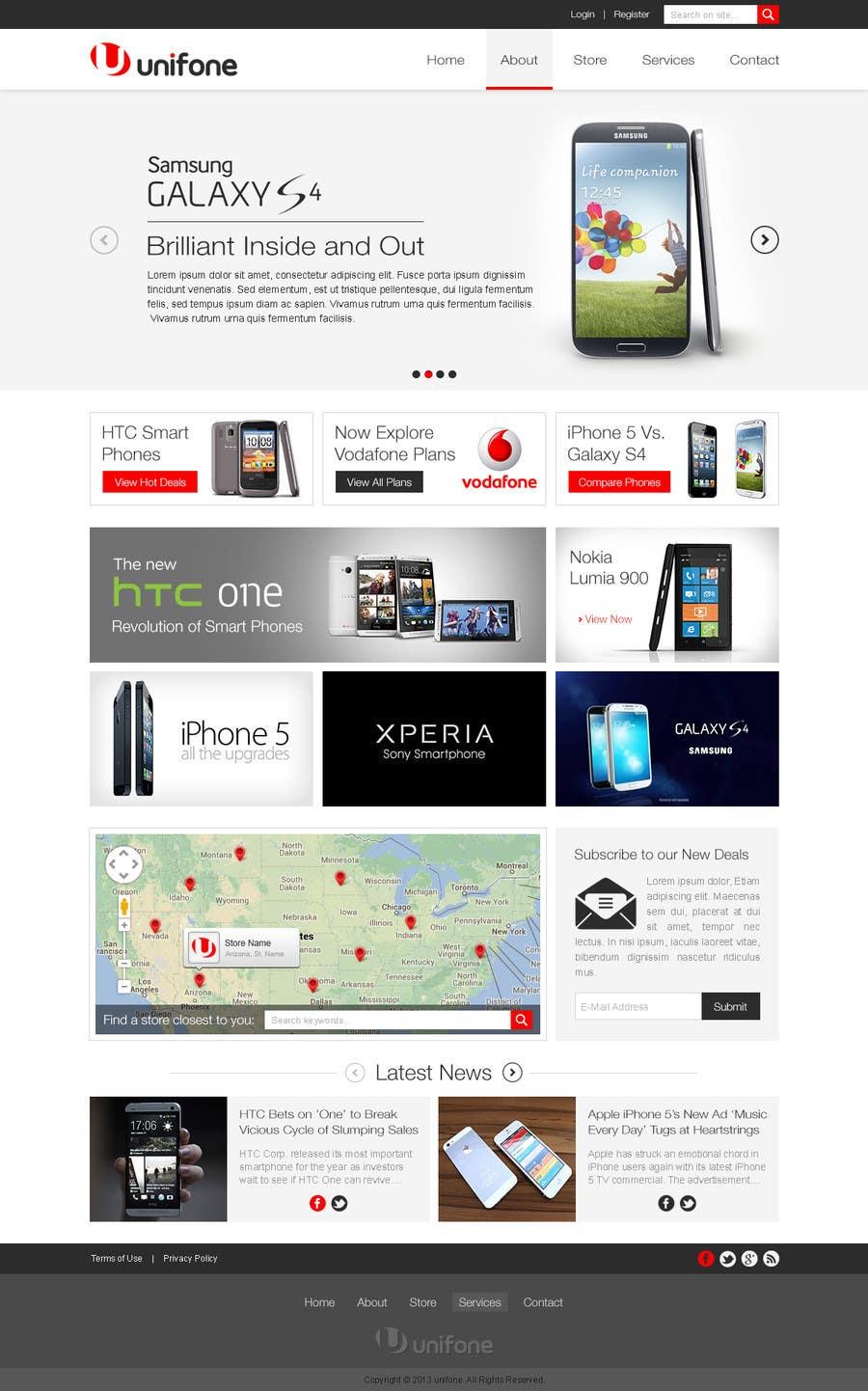 Design a strongly branded Mobile Phone Content Website için 84 numaralı Yarışma Girdisi