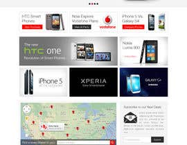 #84 para Design a strongly branded Mobile Phone Content Website por elshahat