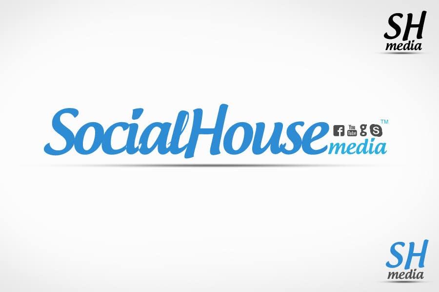 Penyertaan Peraduan #448 untuk Logo Design for Social House Media