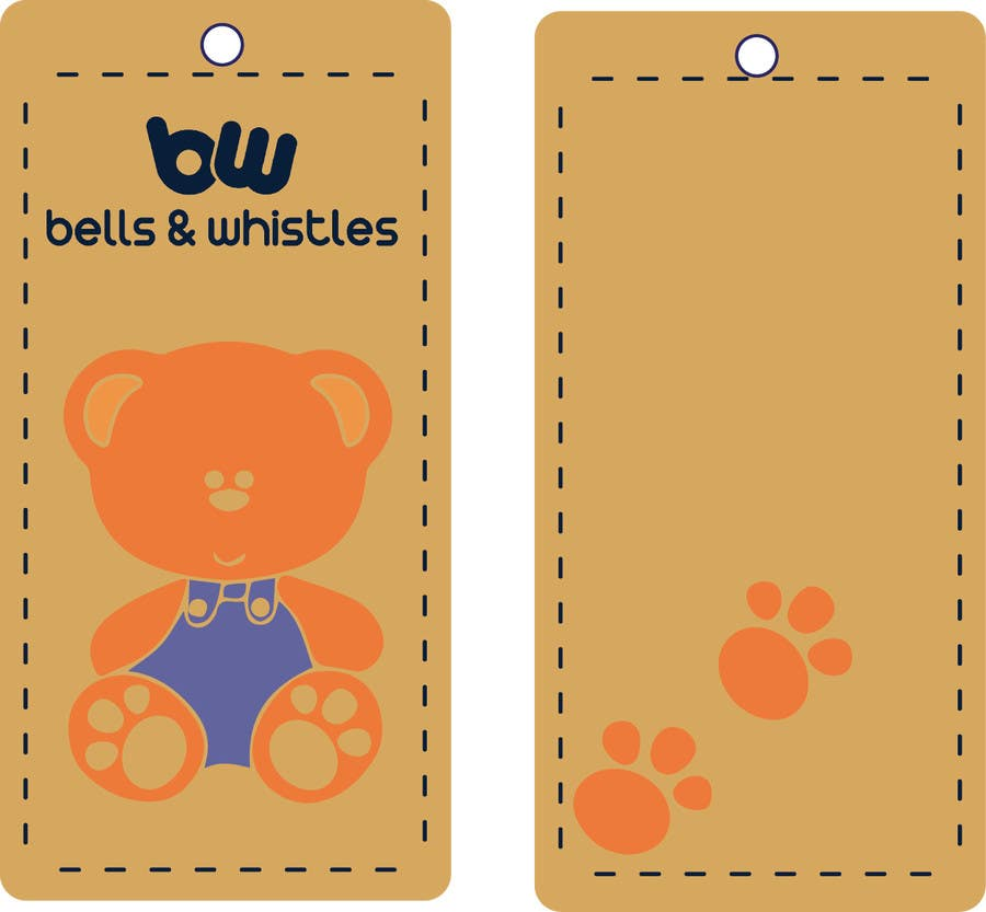 entry 8 by deyali for design a hang tag for a kids apparel brand