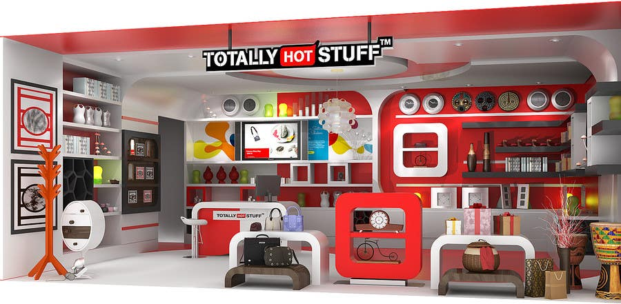 #3 for 3D Interior Design For A Novelty Lifestyle & Gifts Retailer Shop by artdesignfusion