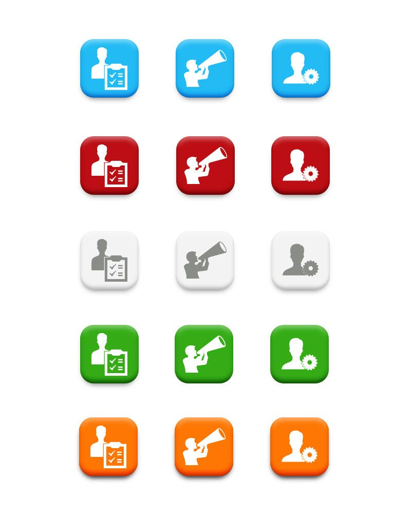 #51 for Redesign three web application GUI icons by chithrarahul