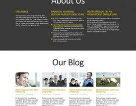 BillWebStudio tarafından Design a Wordpress Mockup for a Certified Financial Planner Consulting Firm için no 31