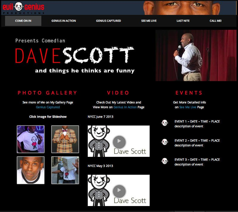 #16 for Build a Wordpress Website for a Comedian by echobravo