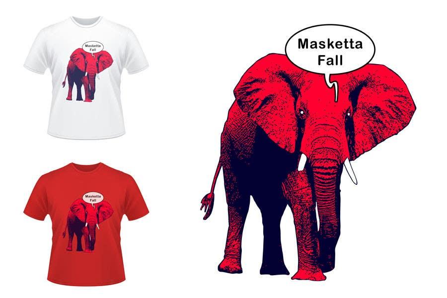Konkurrenceindlæg #71 for T-shirt Design for Masketta Fall