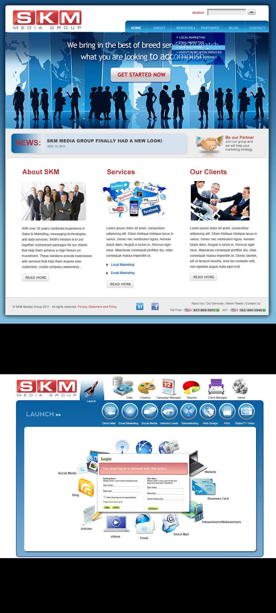Конкурсная заявка №23 для Website Design for www.skmmediagroup.com