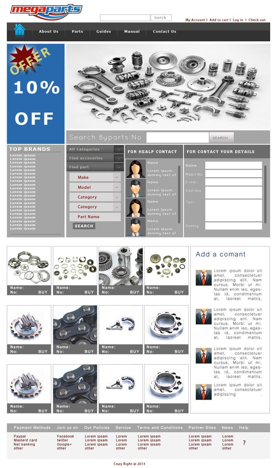 #9 for Design a Website Mockup for megaparts.com by zeontechnologies