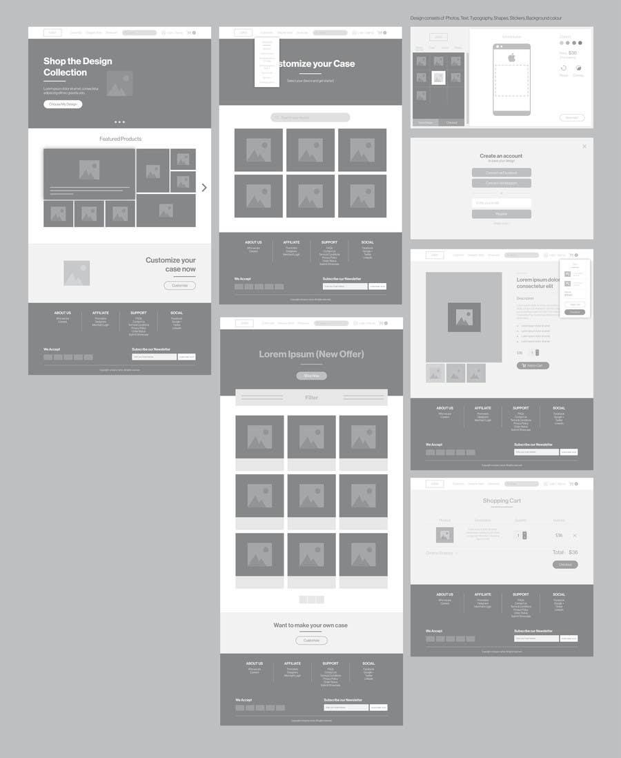 Design a Website Mockup for a customized phone case website ...