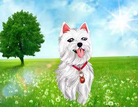 nº 32 pour crreate a cartoon illustration of my dog for a childrens book par haihothi