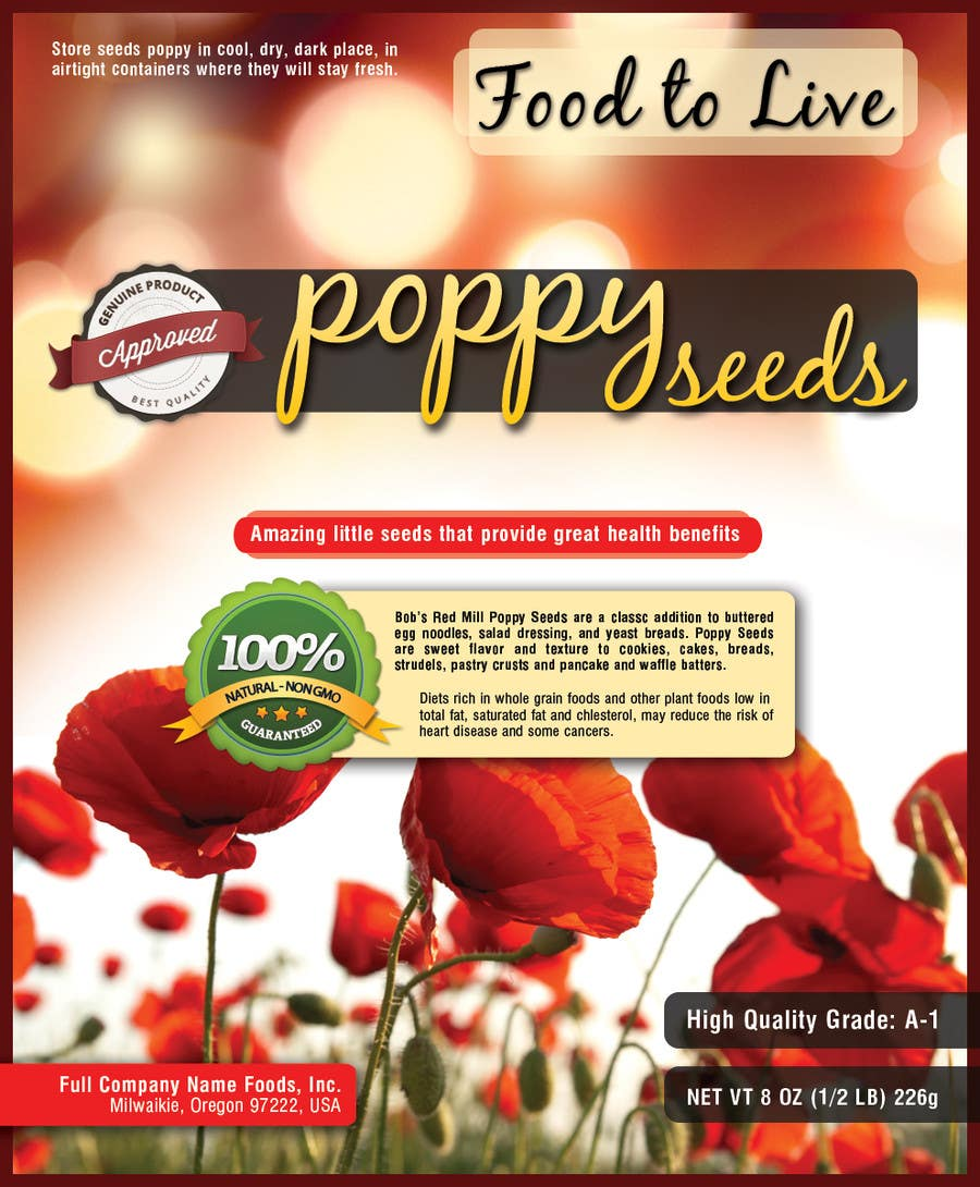 #10 for Create Print and Packaging Designs for a Pack of Poppy Seeds by antoaneta2003