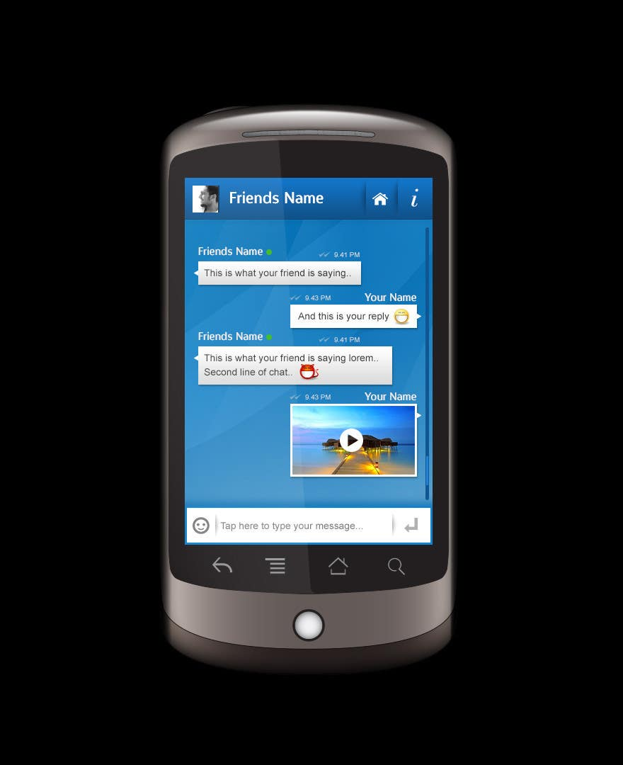 User Interface / IA Contest Entry #5 for Chat App User Interface