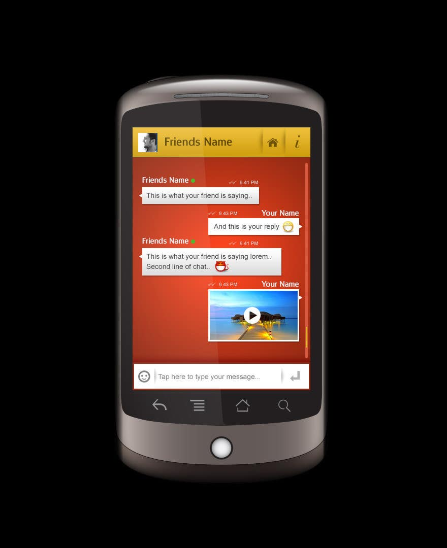 User Interface / IA Contest Entry #8 for Chat App User Interface