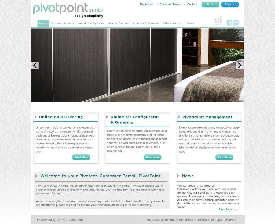 #14 for Design a Website Mockup for revitalization of our B2B customer resource by ibrahimnassar