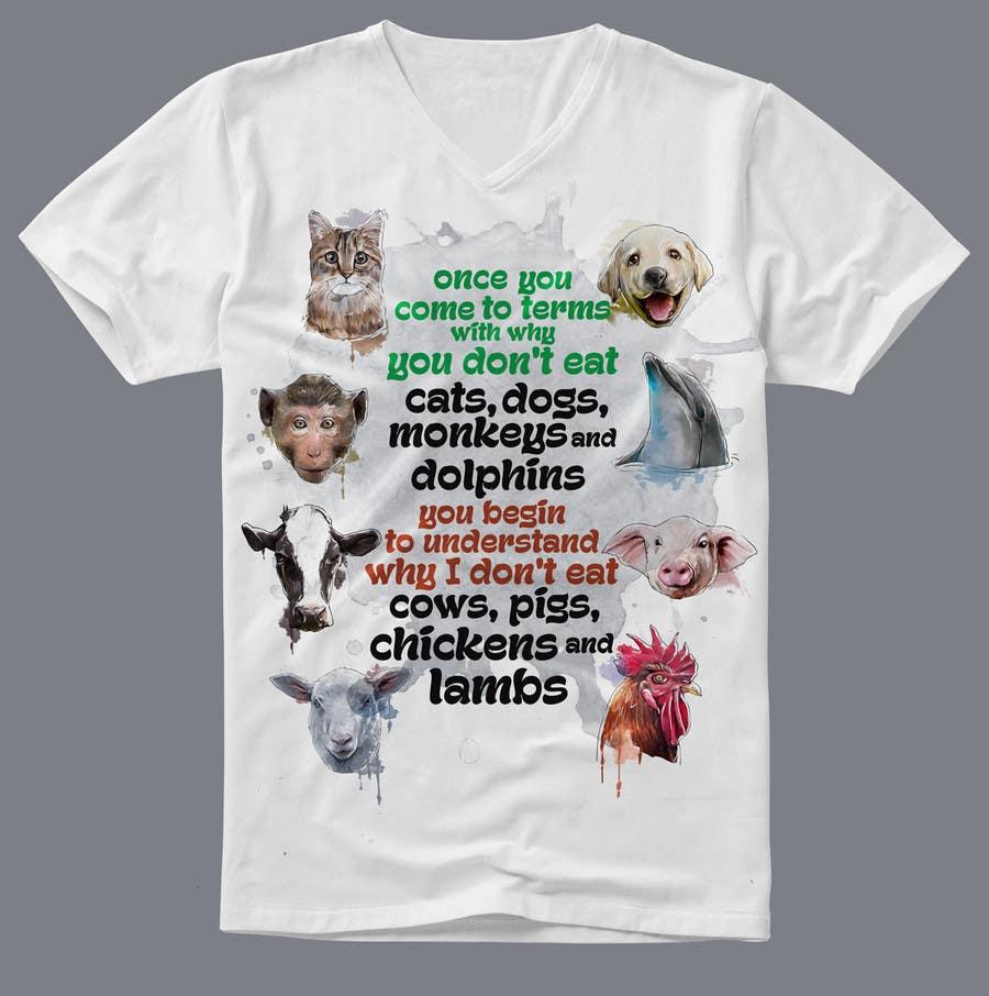 Shirt design needed -  5 For High Quality T Shirt Design Needed For Vegans By Kunjanpradeep