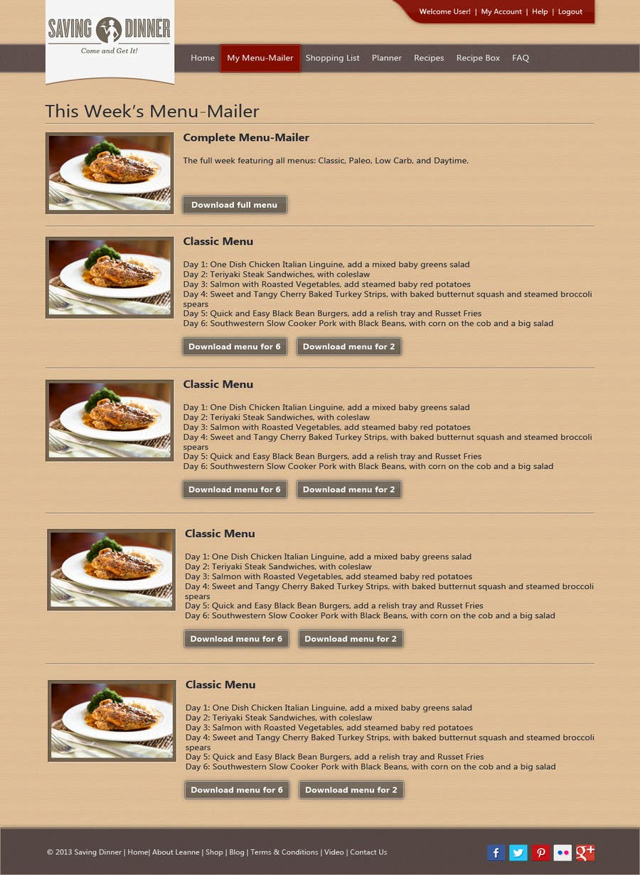#18 for Design a Website Mockup for our Premium Menu-Mailer website. by riopratama
