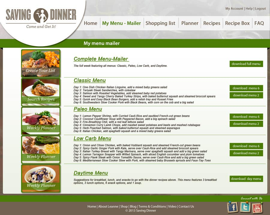 #38 for Design a Website Mockup for our Premium Menu-Mailer website. by grafixeu