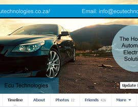 #6 for Design a Facebook landing page for ECU Technologies af danapopa88