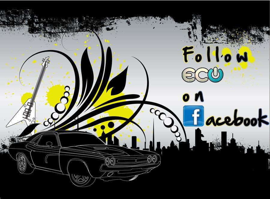 #4 for Design a Facebook landing page for ECU Technologies by PopaVladDesign