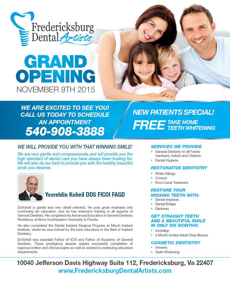 dental flyer design