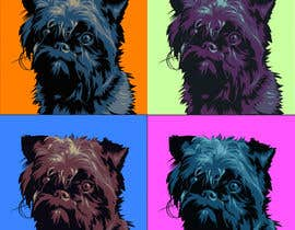 #19 for Affenpinscher dog converted to Pop Art af elenabsl