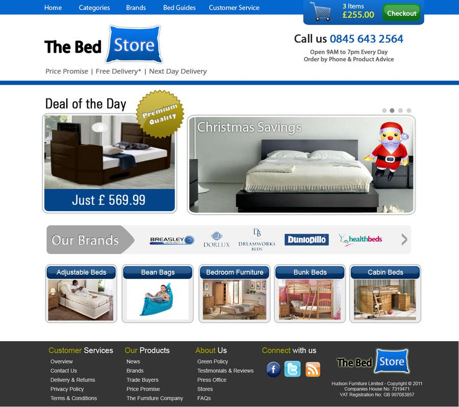 Proposition n°56 du concours Website Design for The Bed Shop (Online Furniture Retailer)