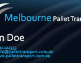 nº 25 pour Design some Business Cards for Melbourne Pallet Transport par hammadraja
