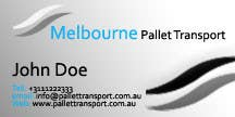 #26 for Design some Business Cards for Melbourne Pallet Transport by hammadraja