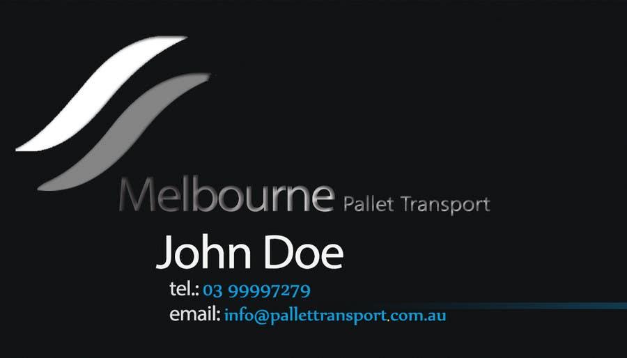 #17 for Design some Business Cards for Melbourne Pallet Transport by Fidelism