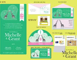 #30 untuk Wedding Invitation and Save the date card oleh doorssrood