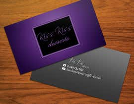 #227 for Business Card Design for Kiss Kiss Desserts af StrujacAlexandru