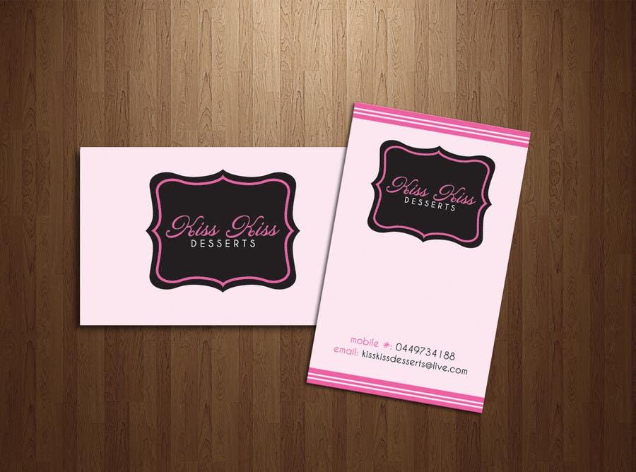 Konkurrenceindlæg #216 for Business Card Design for Kiss Kiss Desserts