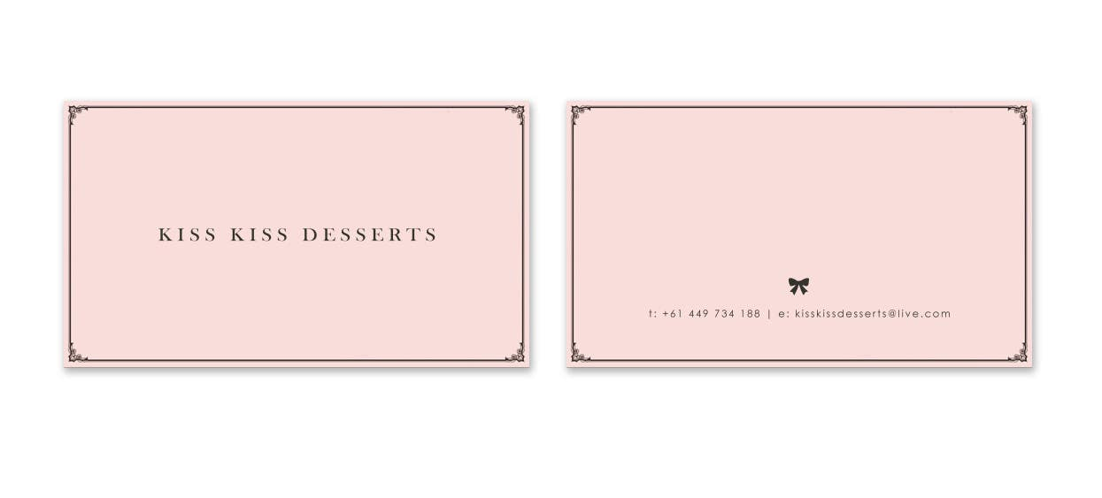Konkurrenceindlæg #282 for Business Card Design for Kiss Kiss Desserts