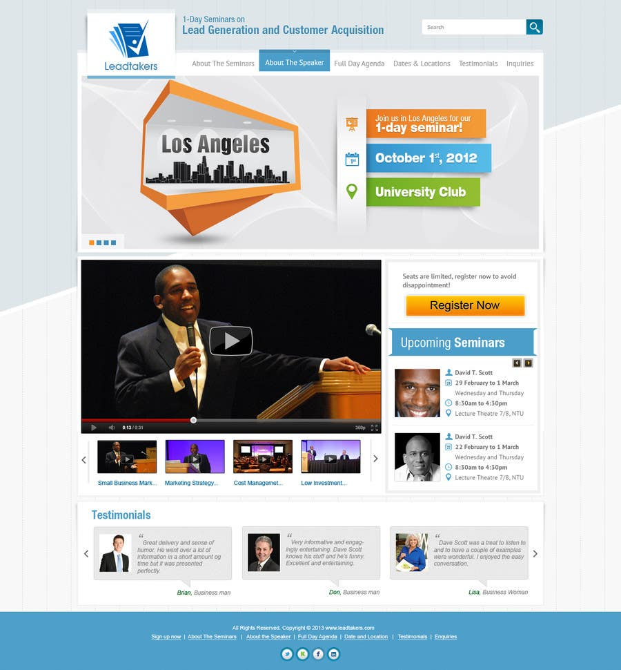 #28 for Build a Website for My Seminar Business by iNoesis
